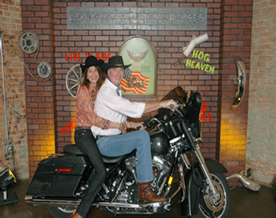 Bikers Photo station with props