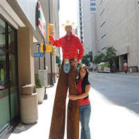 Cowboy Stiltwalker